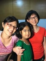 Elizabeth, Mu Eh San and Mary