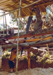 Two man sawpit
