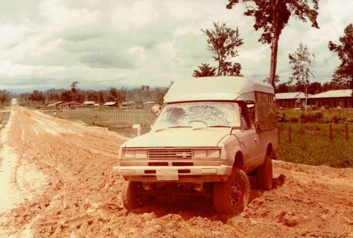 Datsun in the mud