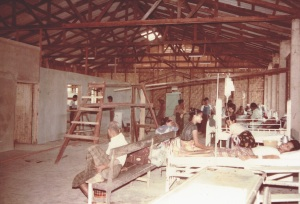 Patients surrounded by construction