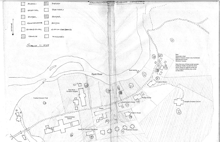 Map of old compound